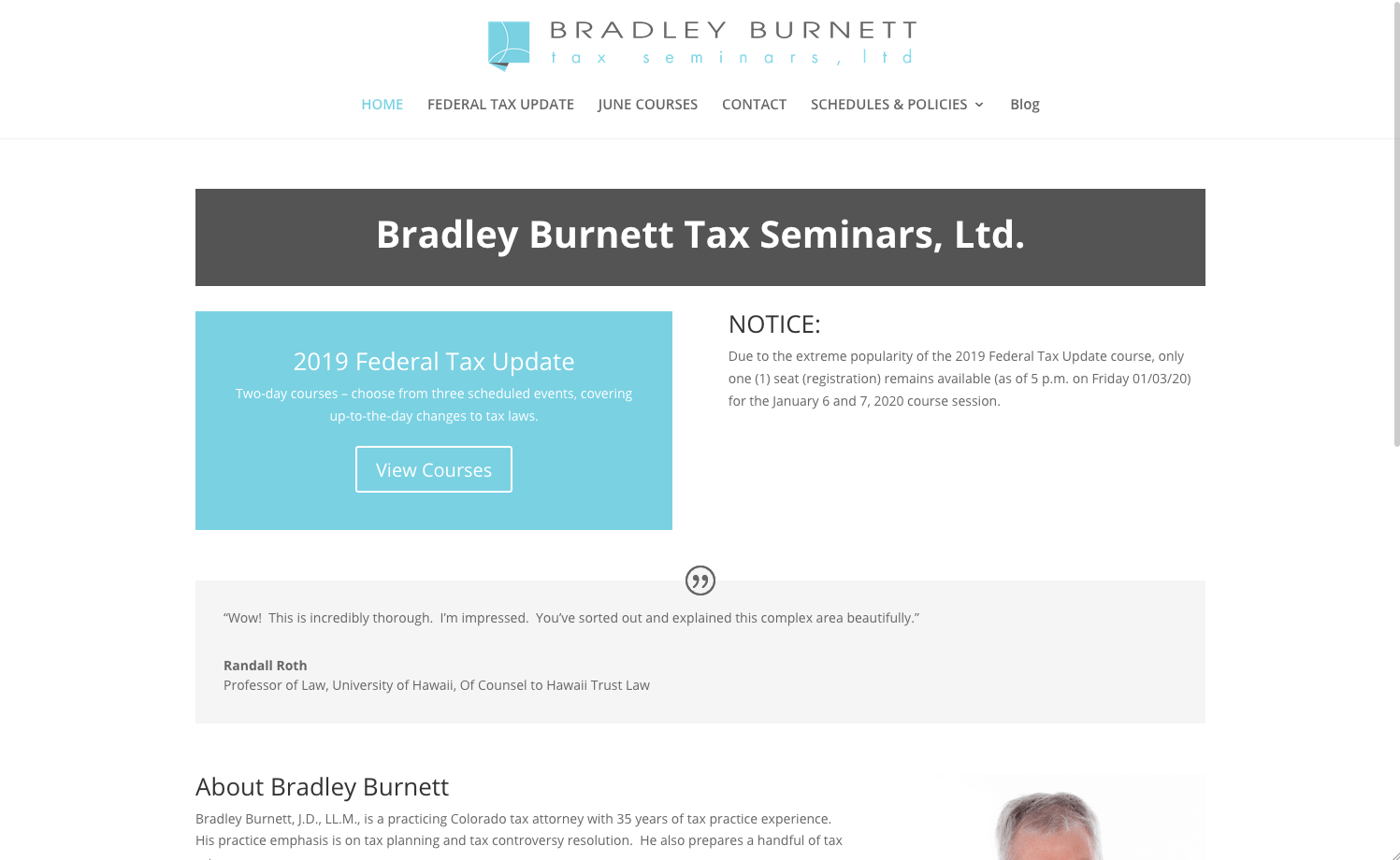 Bradley Burnett Tax Seminars